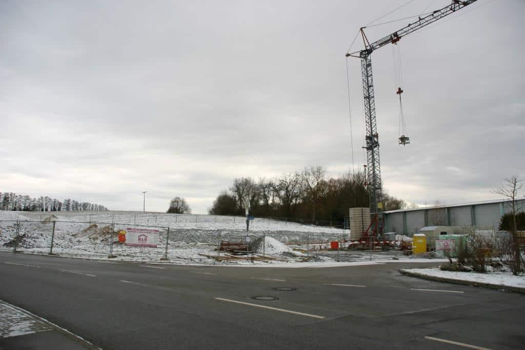 Winter auf der Baustelle